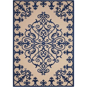 "Nourison Aloha 5'3"" x 7'5"" Navy Rectangle Rug"