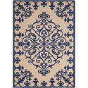 "Nourison Aloha 5'3"" x 7'5"" Navy Rectangle Rug - Item Number: ALH12 NAV 53X75"