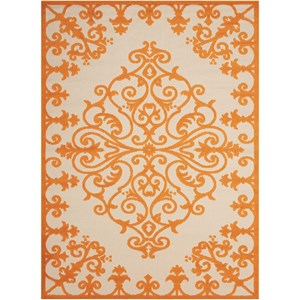 "Nourison Aloha 3'6"" x 5'6"" Orange Rectangle Rug"