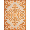 "Nourison Aloha 7'10"" x 10'6"" Orange Rectangle Rug - Item Number: ALH12 ORG 710X106"