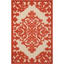 "Nourison Aloha 2'8"" x 4' Red Rectangle Rug - Item Number: ALH12 RED 28X4"