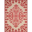 "Nourison Aloha 3'6"" x 5'6"" Red Rectangle Rug - Item Number: ALH12 RED 36X56"