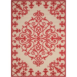 "Nourison Aloha 7'10"" x 10'6"" Red Rectangle Rug"