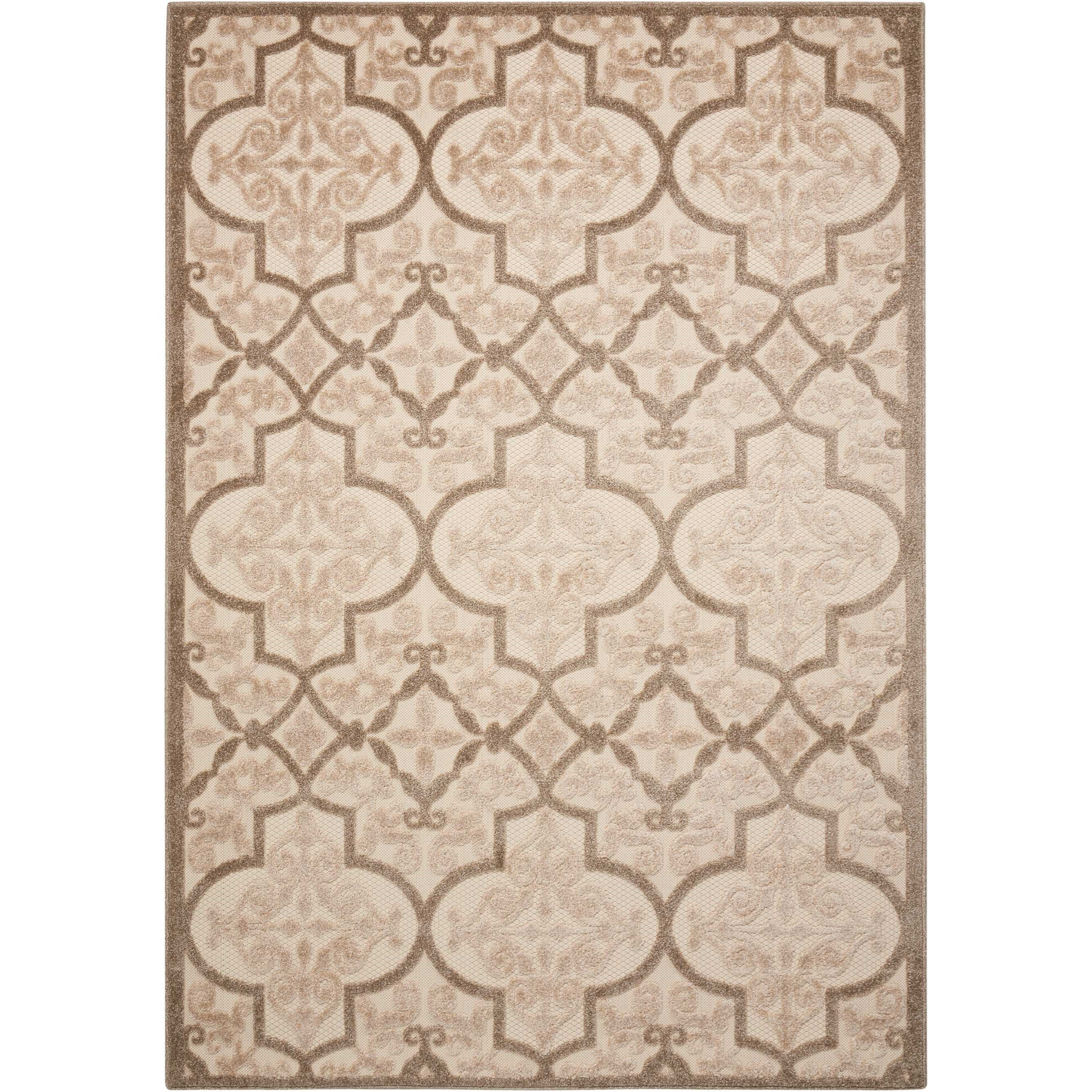 "Aloha 3'6"" X 5'6"" Cream Rug by Nourison at Home Collections Furniture"