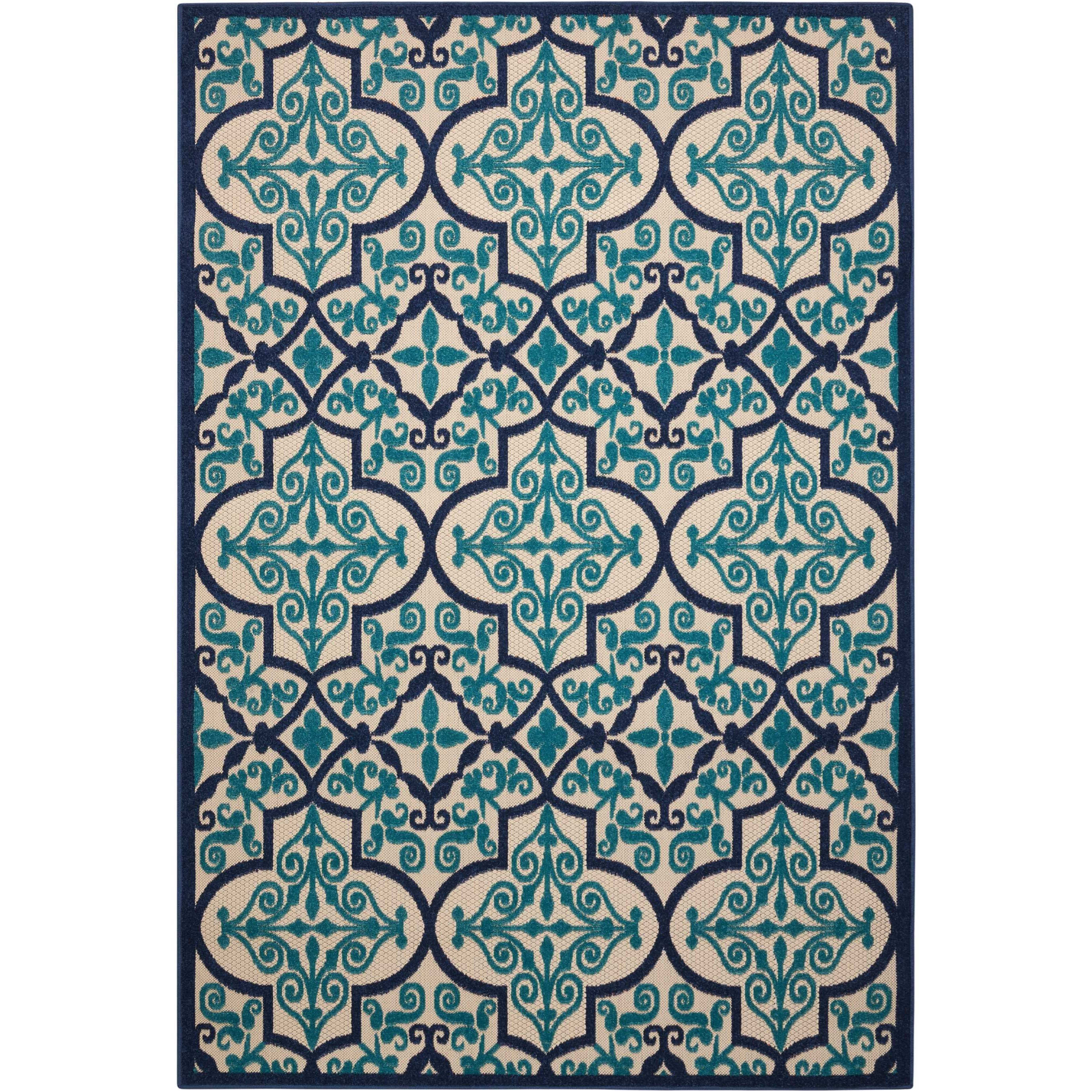 """Aloha 3'6"""" X 5'6"""" Navy Rug by Nourison at Home Collections Furniture"""