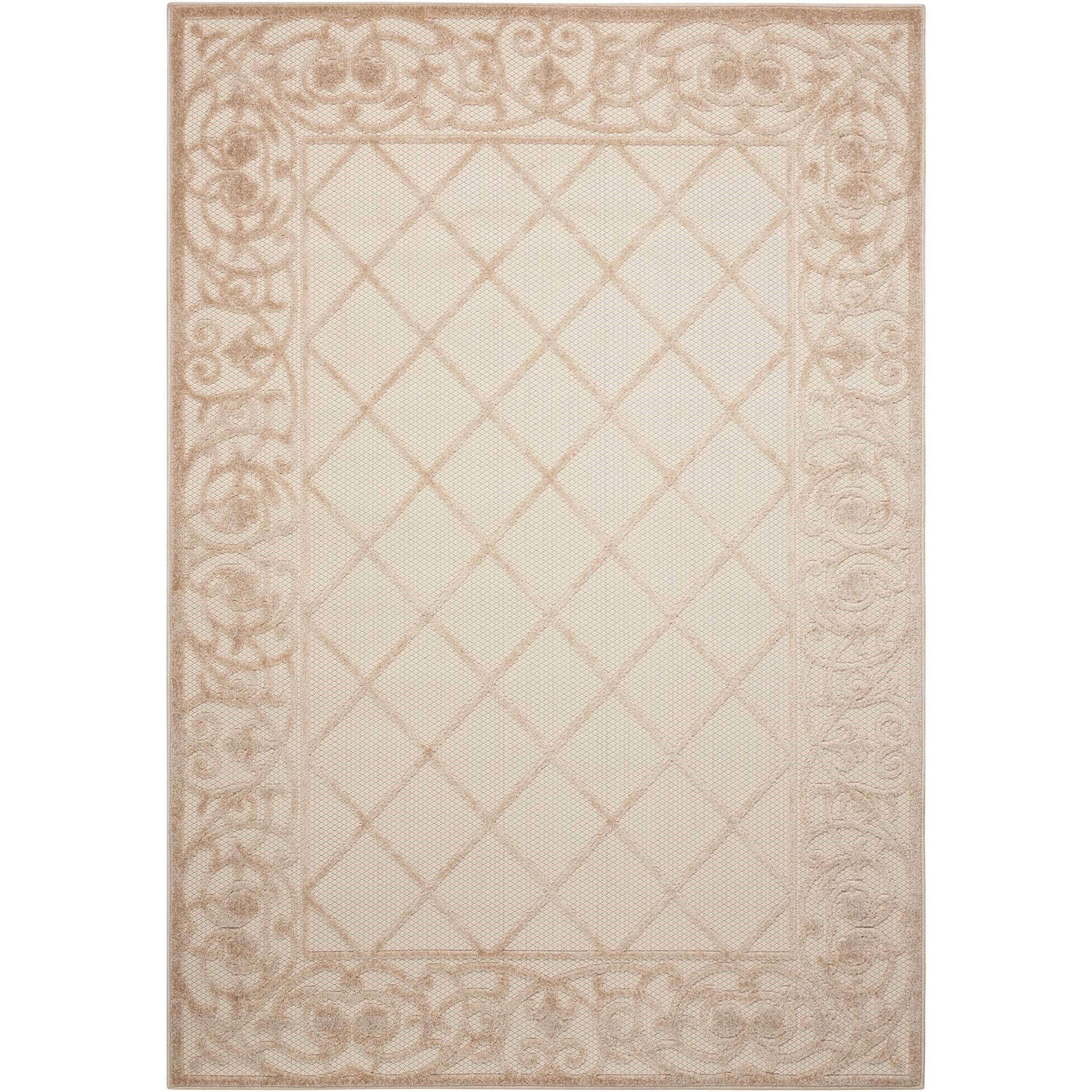 "Aloha 9'6"" X 13' Cream Rug by Nourison at Home Collections Furniture"