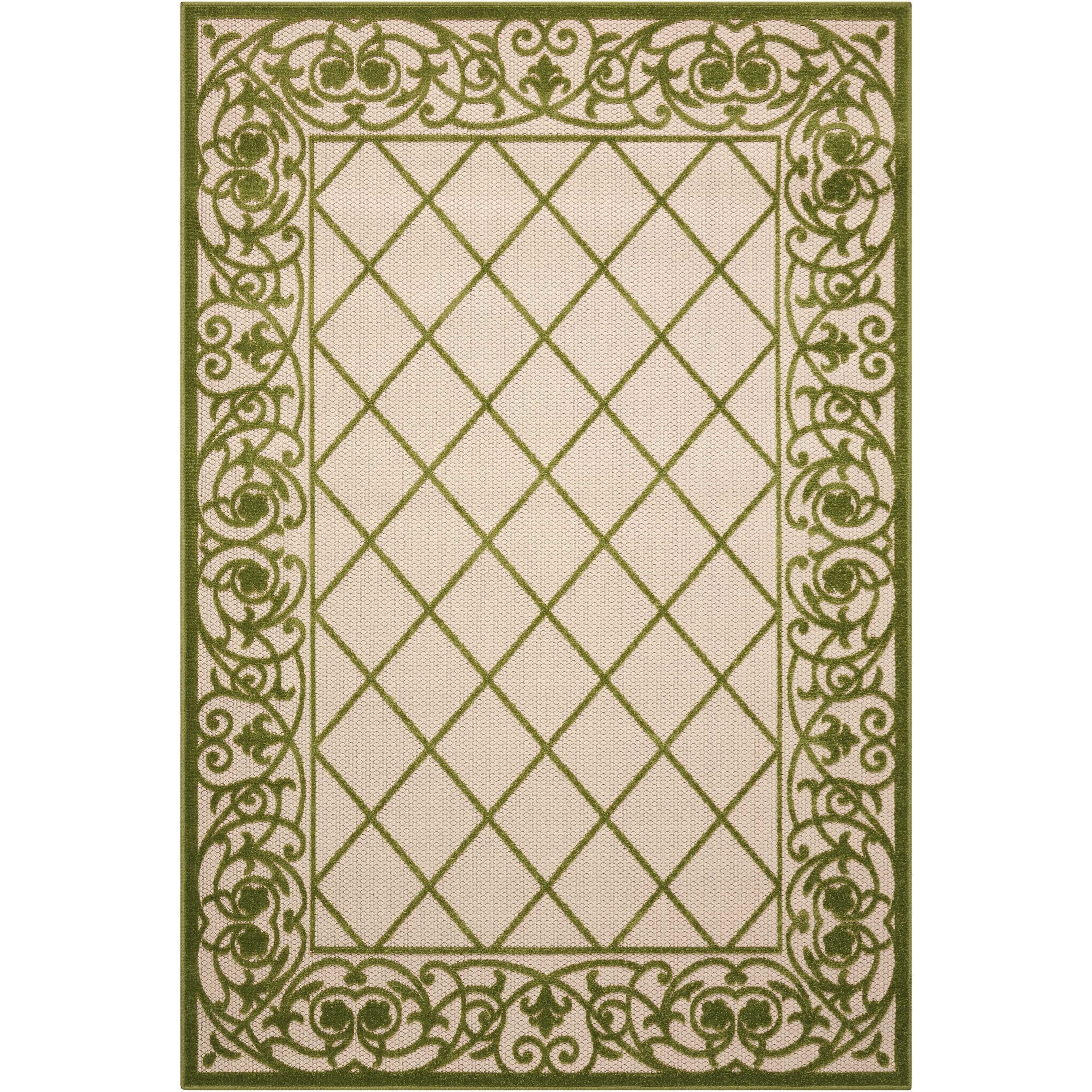"Aloha 3'6"" X 5'6"" Green Rug by Nourison at Home Collections Furniture"