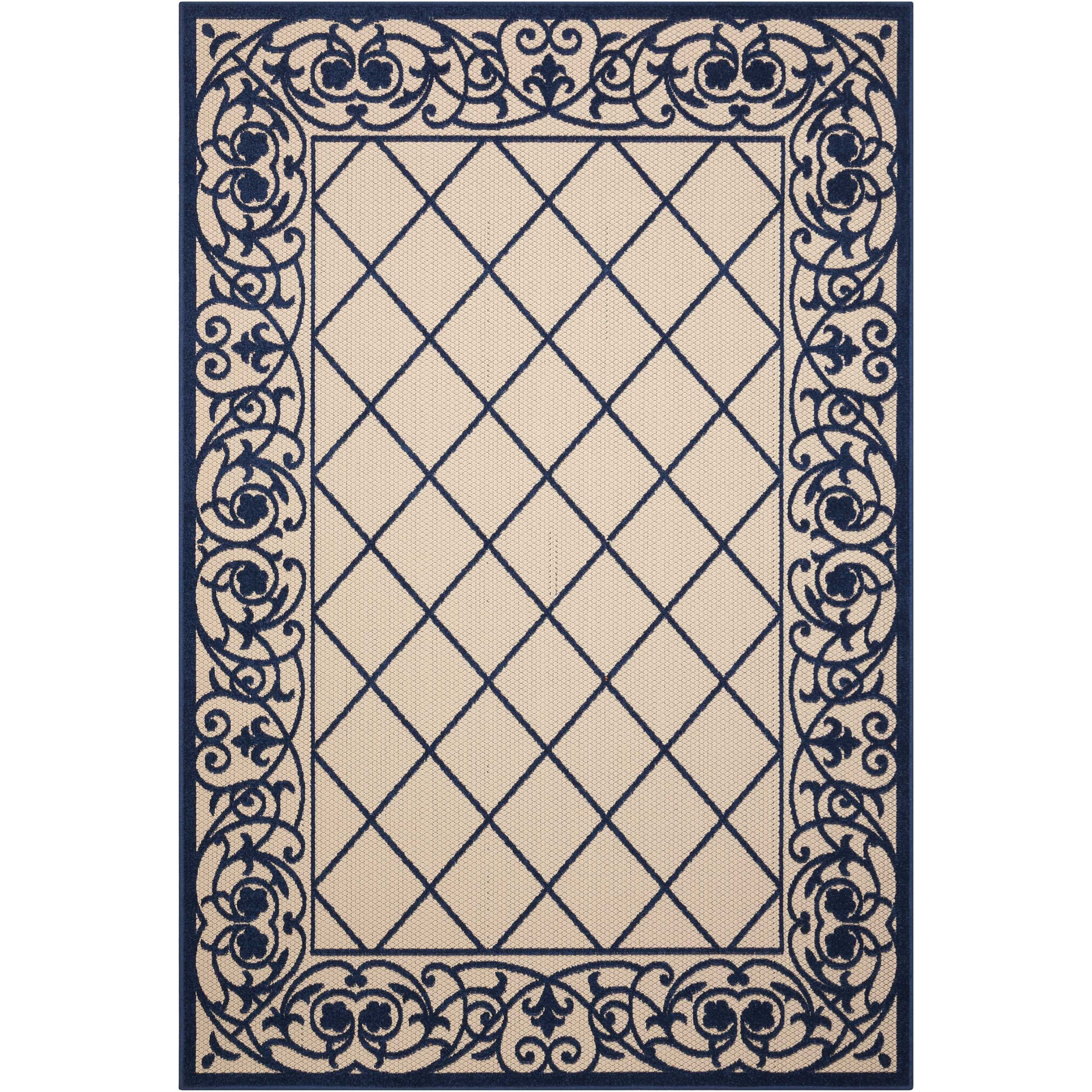 "Aloha 9'6"" X 13' Navy                 Rug by Nourison at Sprintz Furniture"