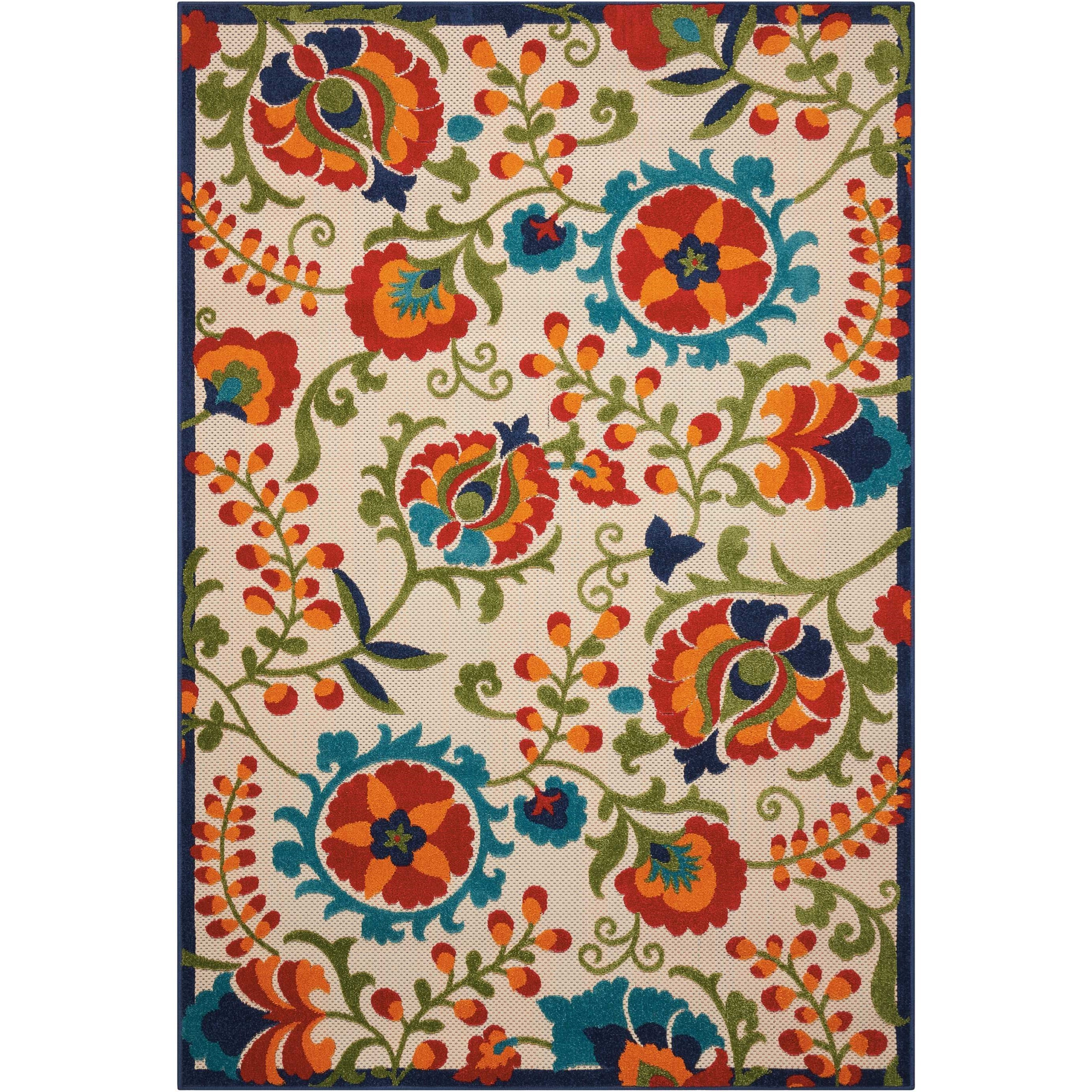 "Aloha 5'3"" X 7'5"" Multicolor Rug by Nourison at Home Collections Furniture"