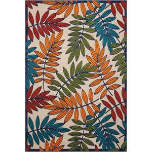 "Nourison Aloha 3'6"" X 5'6"" Multicolor Rug"