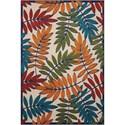 "Nourison Aloha 3'6"" X 5'6"" Multicolor Rug - Item Number: ALH18 MTC 36X56"
