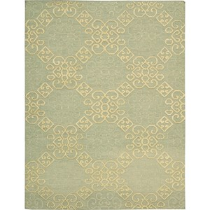 "Nourison Ambrose 9'9"" x 13'9"" Light Green Area Rug"