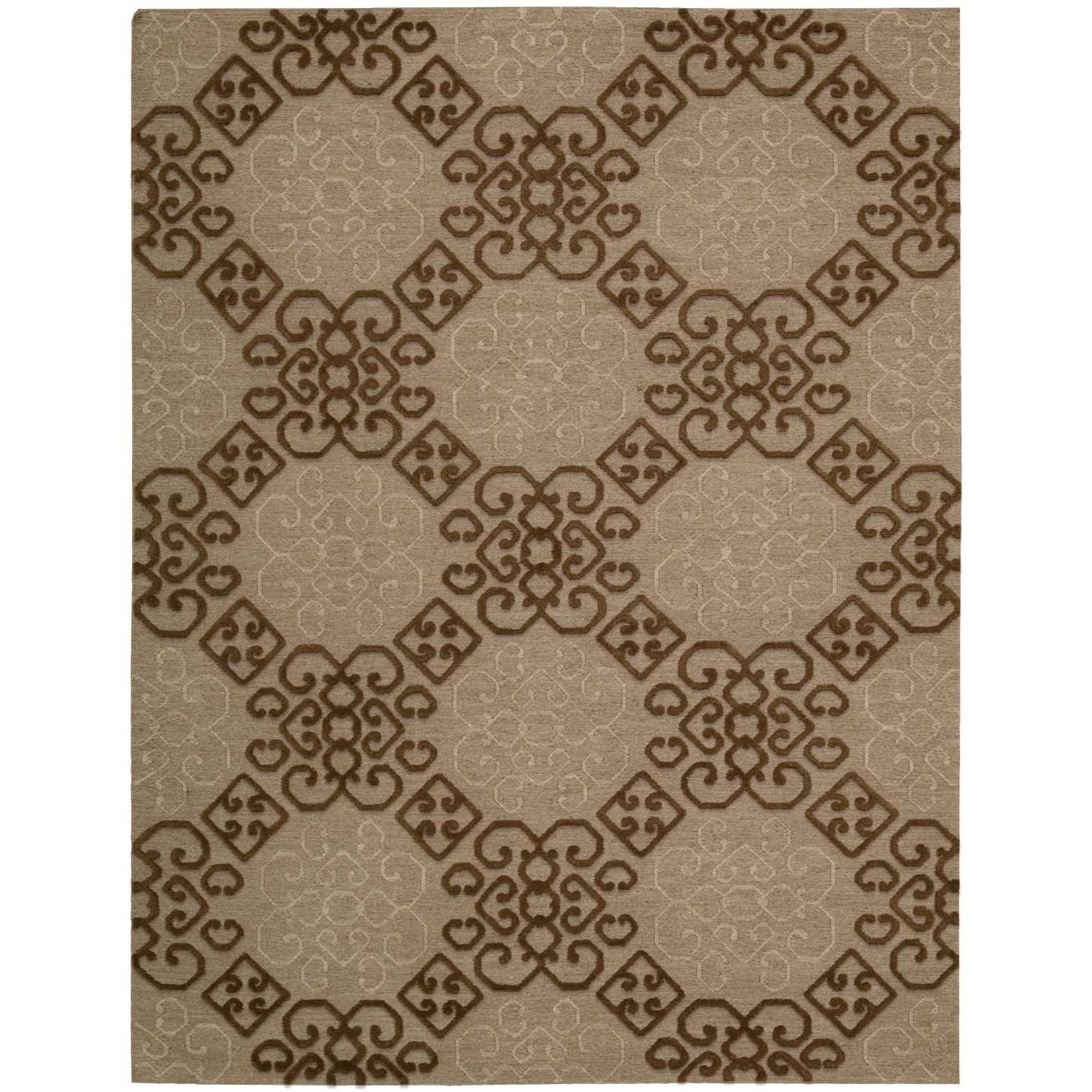 "Ambrose 5'6"" x 7'5"" Almond Rectangle Rug by Nourison at Home Collections Furniture"