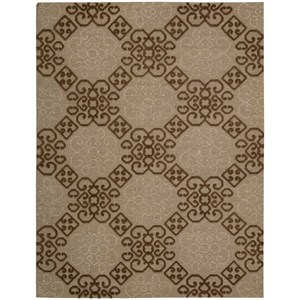 "Nourison Ambrose 9'9"" x 13'9"" Almond Rectangle Rug"