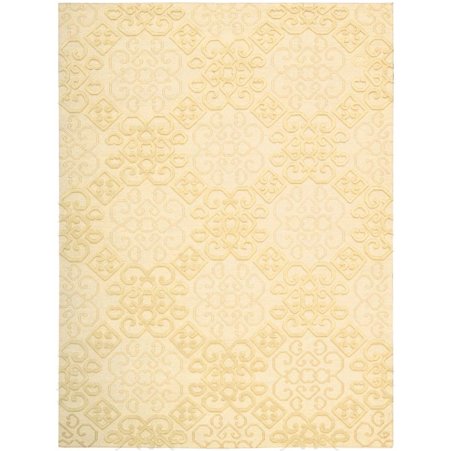 """Ambrose 3'9"""" x 5'9"""" Linen Rectangle Rug by Nourison at Home Collections Furniture"""