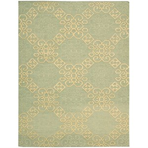 "Nourison Ambrose 8'6"" x 11'6"" Light Green Rectangle Rug"