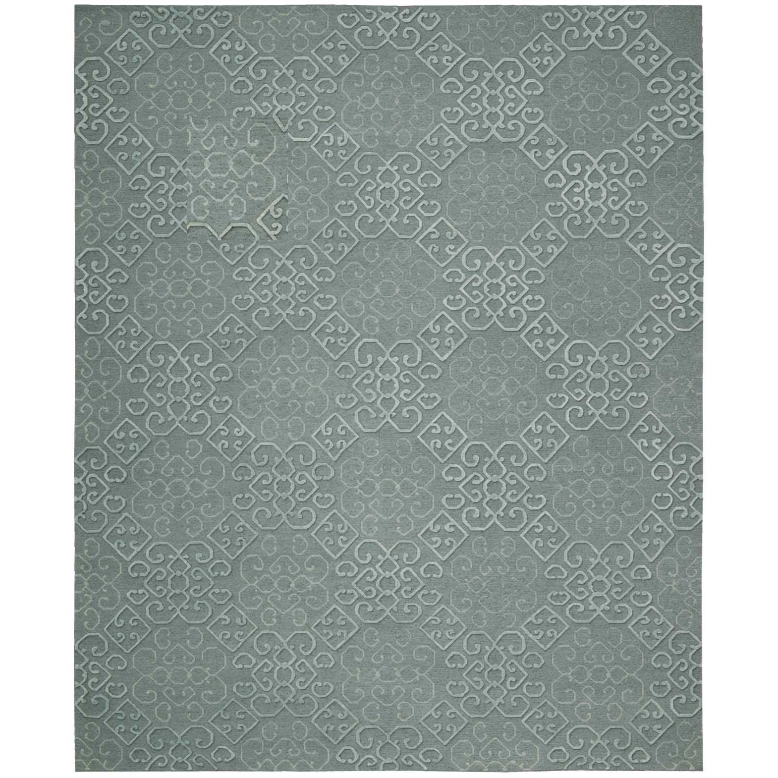 "Ambrose 7'9"" x 9'9"" Slate Rectangle Rug by Nourison at Sprintz Furniture"