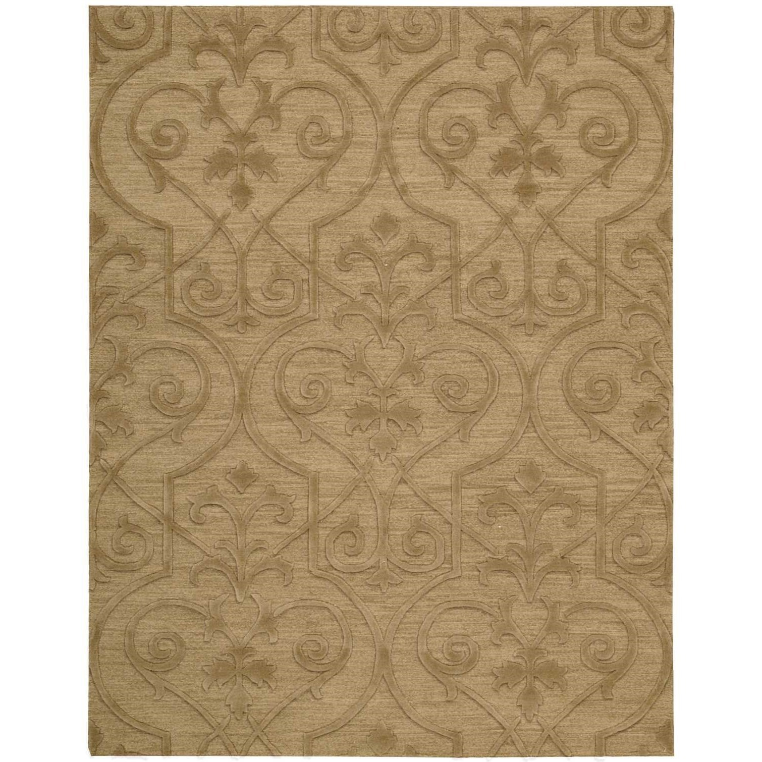 "7'9"" x 9'9"" Khaki Rectangle Rug"