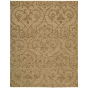 "Nourison Ambrose 7'9"" x 9'9"" Khaki Rectangle Rug"