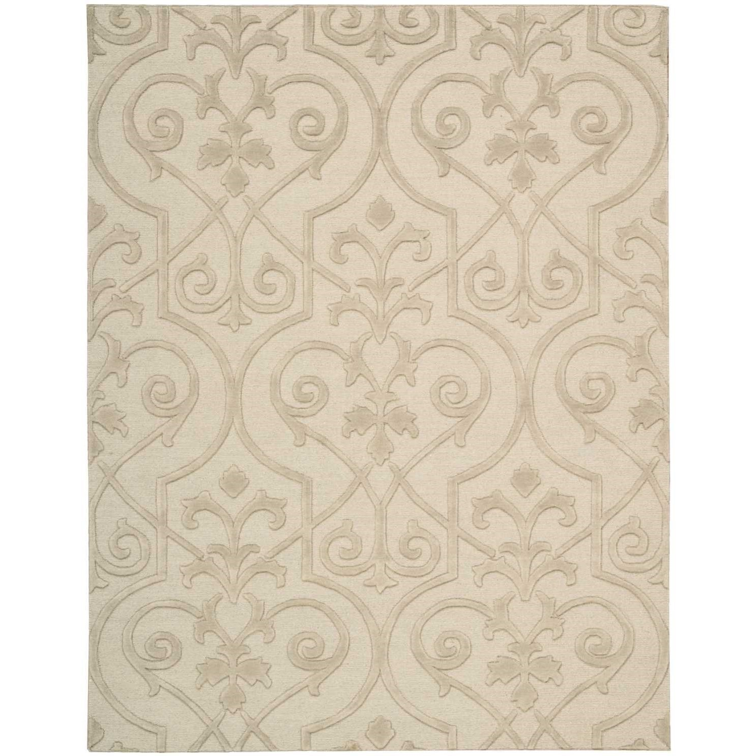 "Ambrose 3'9"" x 5'9"" Sand Rectangle Rug by Nourison at Sprintz Furniture"