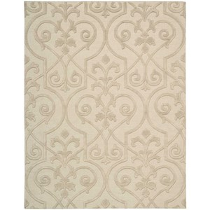 "Nourison Ambrose 7'9"" x 9'9"" Sand Rectangle Rug"