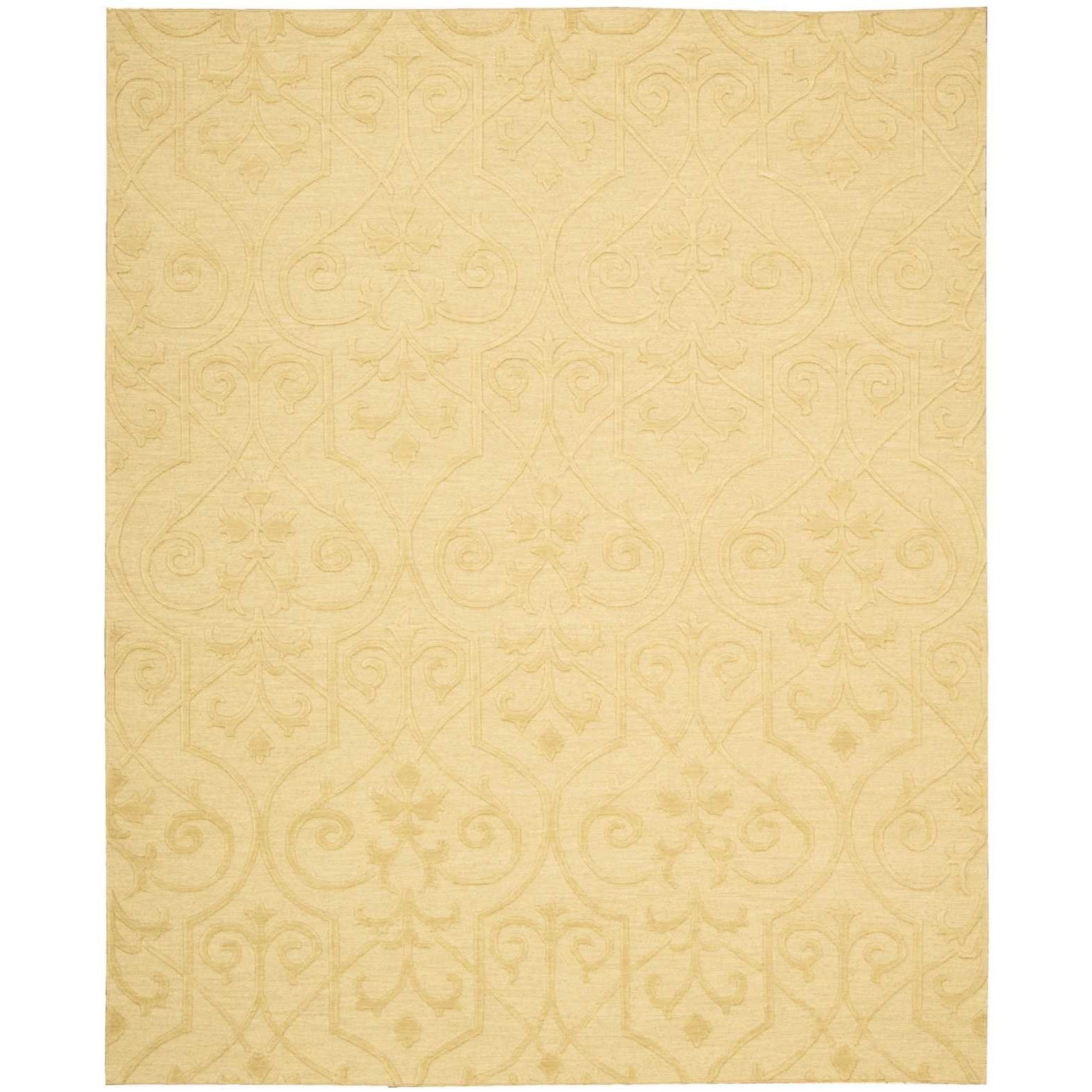 "Ambrose 5'6"" x 7'5"" Straw Rectangle Rug by Nourison at Home Collections Furniture"
