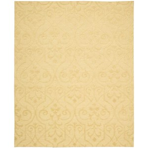 "Nourison Ambrose 7'9"" x 9'9"" Straw Rectangle Rug"