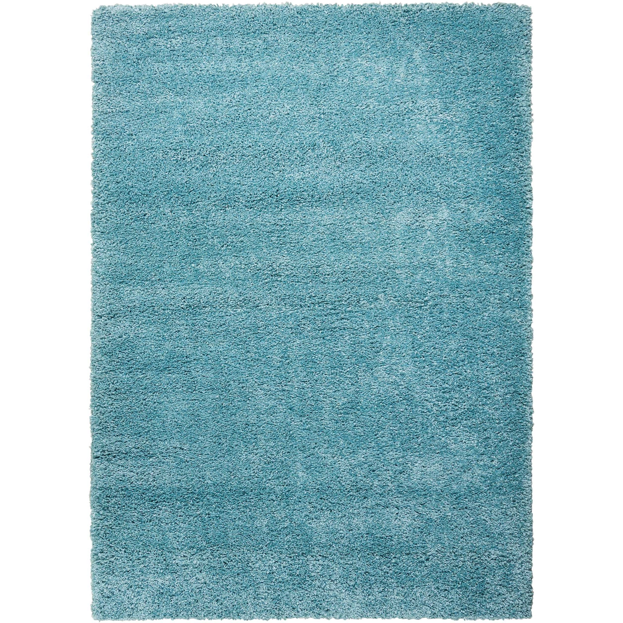 """Amore 5'3"""" x 7'5"""" Aqua Rectangle Rug by Nourison at Home Collections Furniture"""