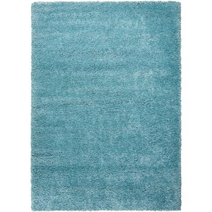 "Nourison Amore2 7'10"" x 10'10"" Aqua Rectangle Rug"