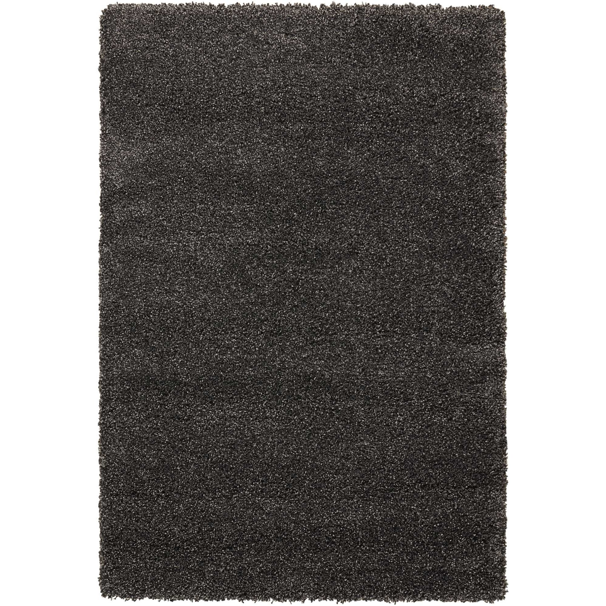 """Amore 5'3"""" x 7'5"""" Dark Grey Rectangle Rug by Nourison at Home Collections Furniture"""