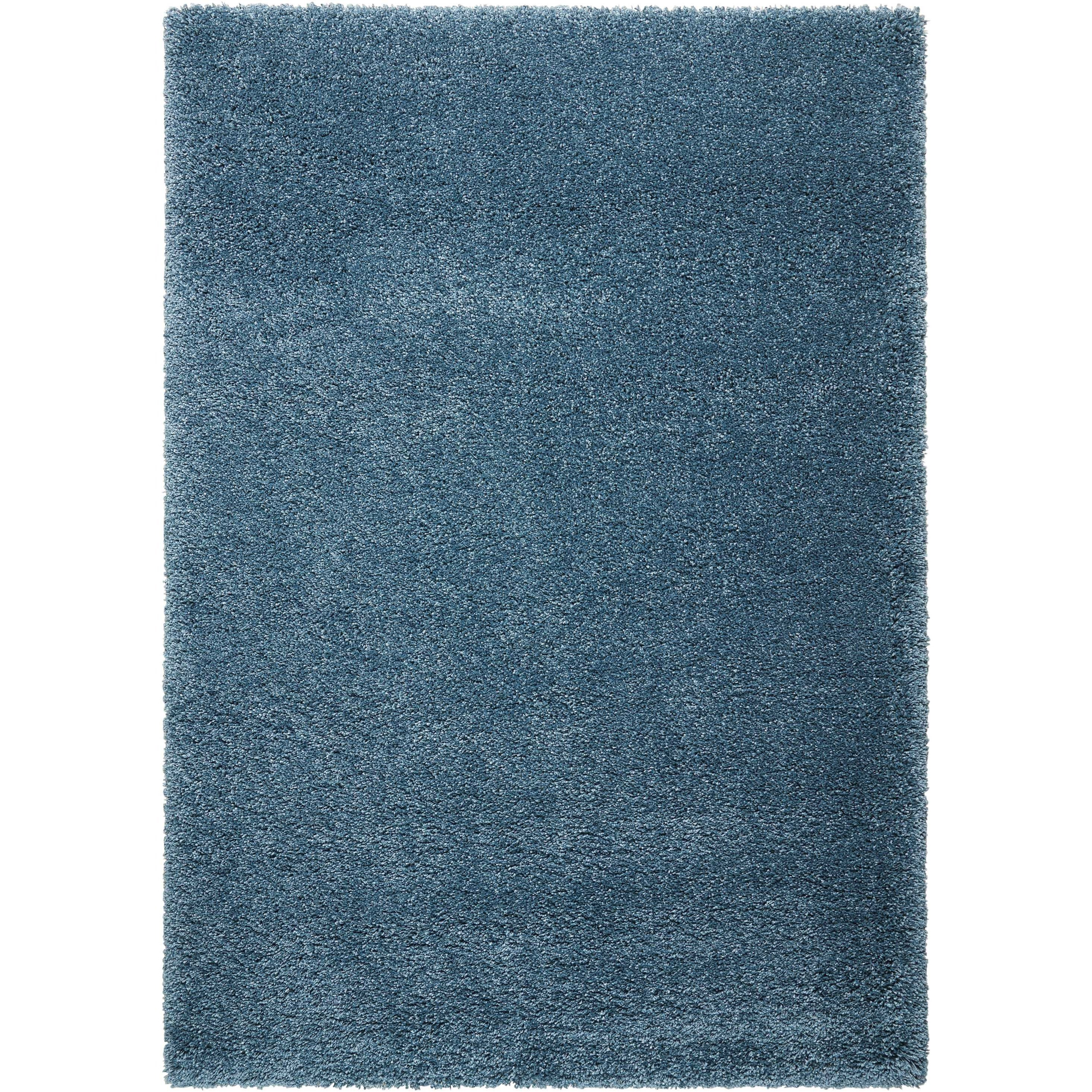 "Amore2 5'3"" X 7'5"" Slate Blue Rug by Nourison at Home Collections Furniture"