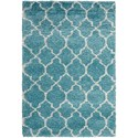 "Nourison Amore 3'11"" x 5'11"" Aqua Rectangle Rug - Item Number: AMOR2 AQU 311X511"