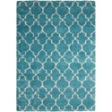 "Nourison Amore 6'7"" x 9'6"" Aqua Rectangle Rug - Item Number: AMOR2 AQU 67X96"