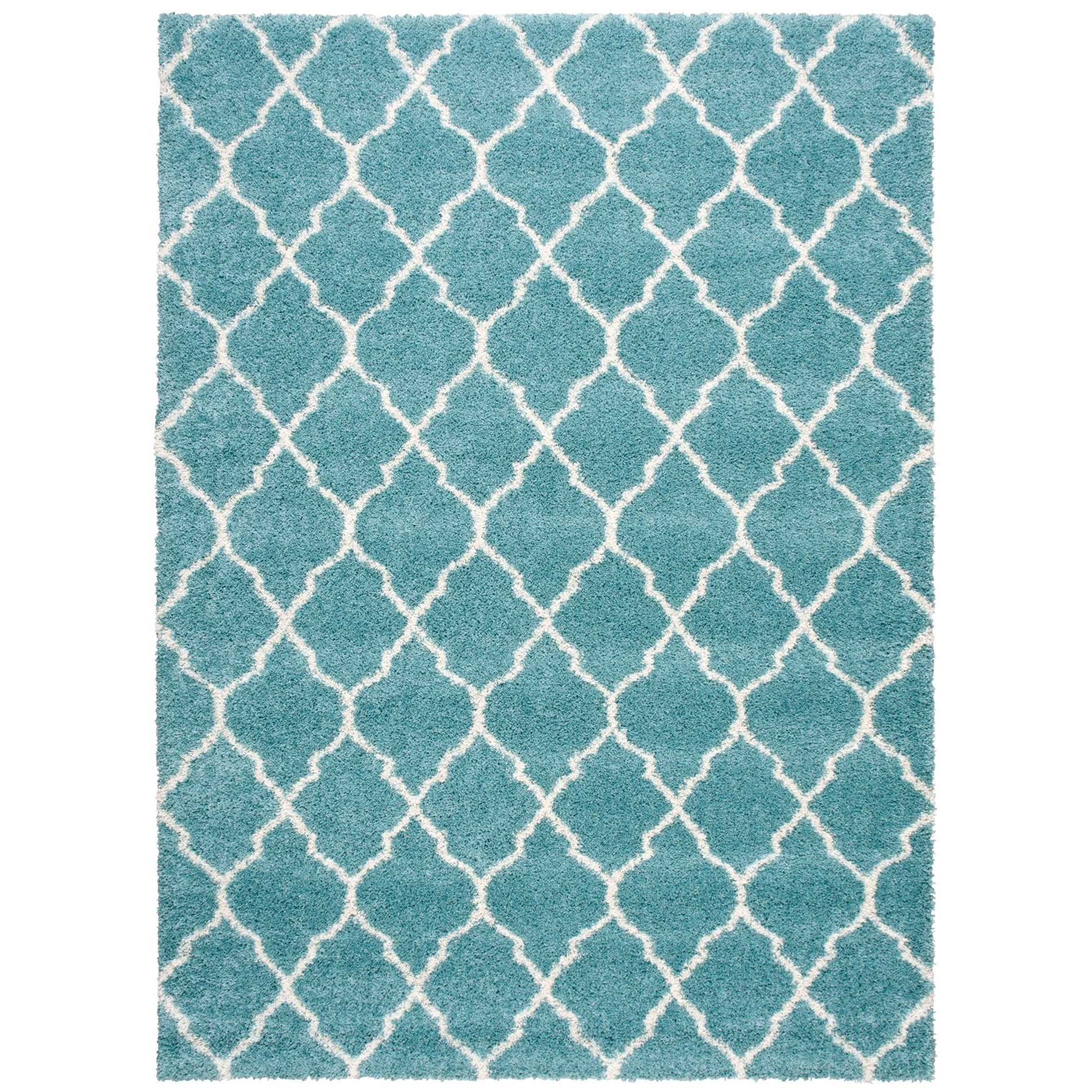 "Amore 7'10"" x 10'10"" Aqua Rectangle Rug by Nourison at Home Collections Furniture"