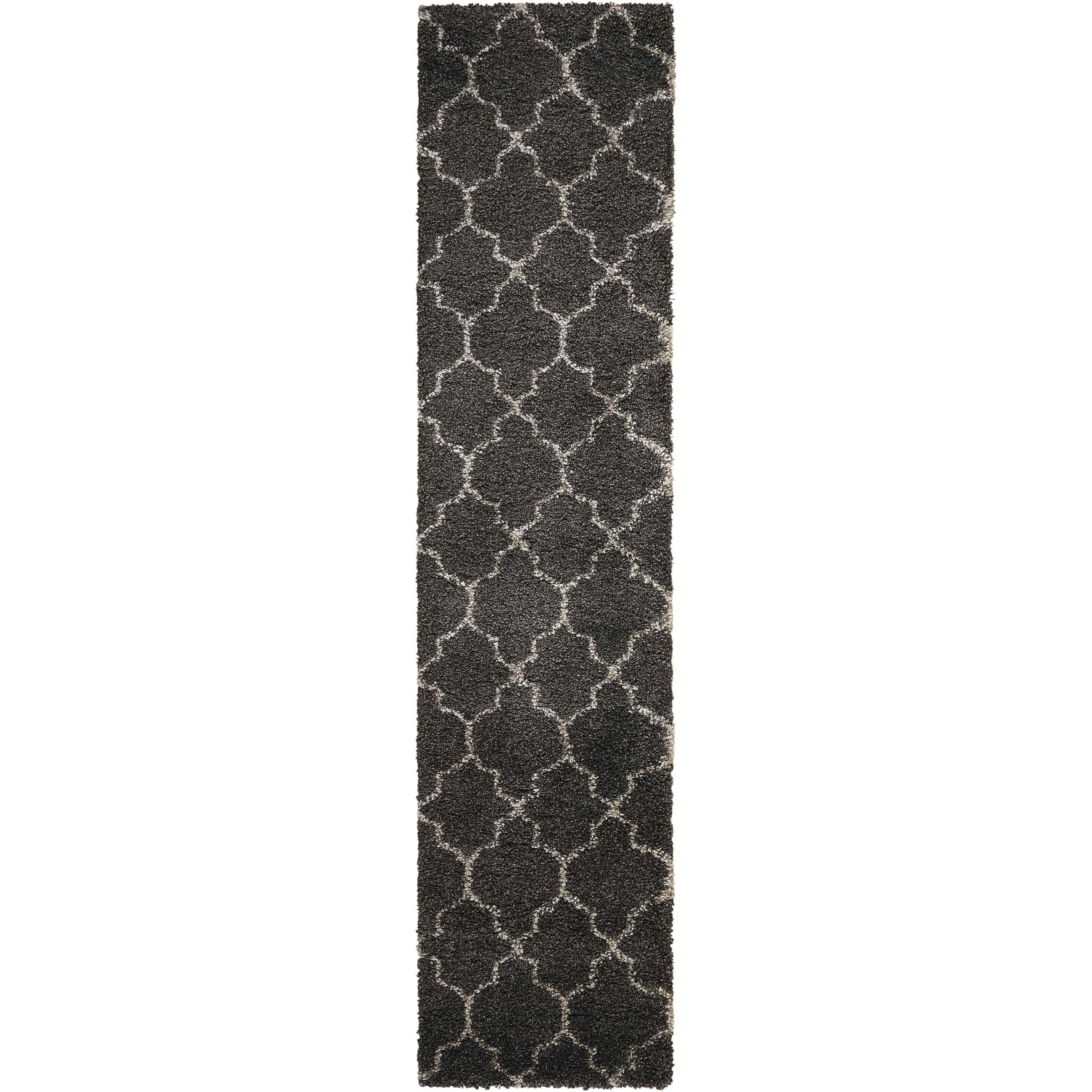 "Amore 2'2"" x 10' Charcoal Runner Rug by Nourison at Home Collections Furniture"