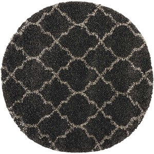 """Nourison Amore 3'11"""" x 3'11"""" Charcoal Round Rug"""