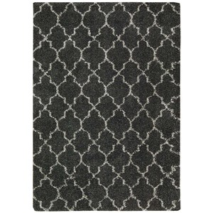 "Nourison Amore 3'11"" x 5'11"" Charcoal Rectangle Rug"