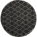 "Nourison Amore 6'7"" x 6'7"" Charcoal Round Rug - Item Number: AMOR2 CHA 67X67 RD"