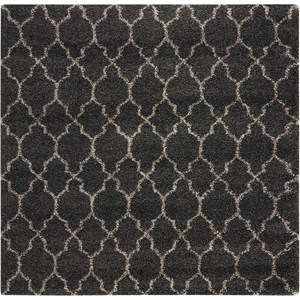 "Nourison Amore 6'7"" x 6'7"" Charcoal Rectangle Rug"