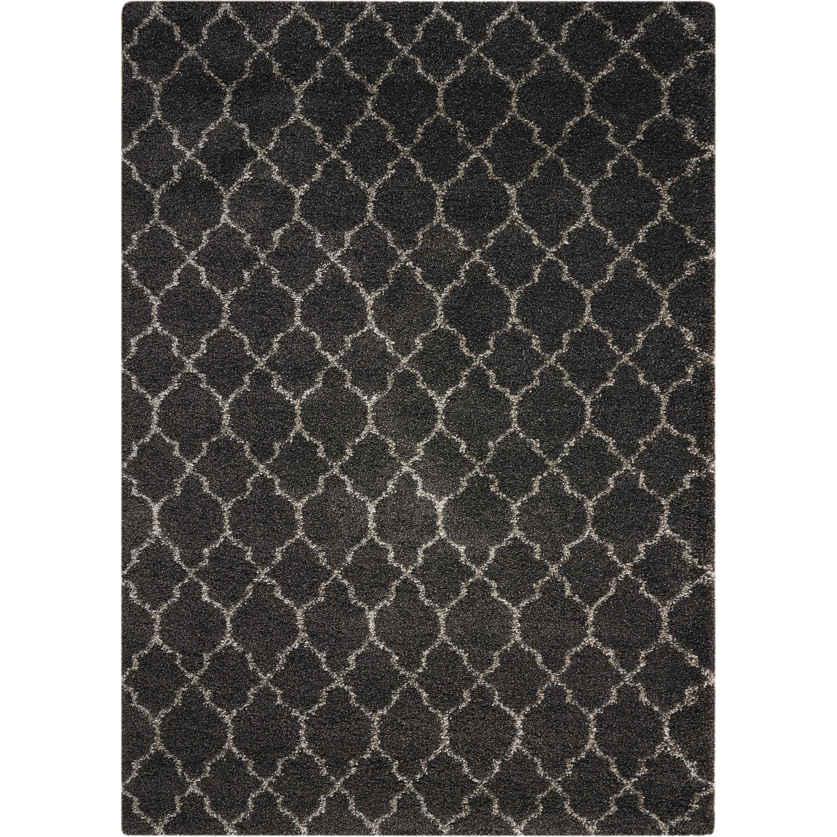 "Amore 7'10"" x 10'10"" Charcoal Rectangle Rug by Nourison at Home Collections Furniture"
