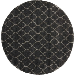 "7'10"" x 7'10"" Charcoal Round Rug"