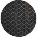 """Nourison Amore 7'10"""" x 7'10"""" Charcoal Round Rug - Item Number: AMOR2 CHA 710X710"""