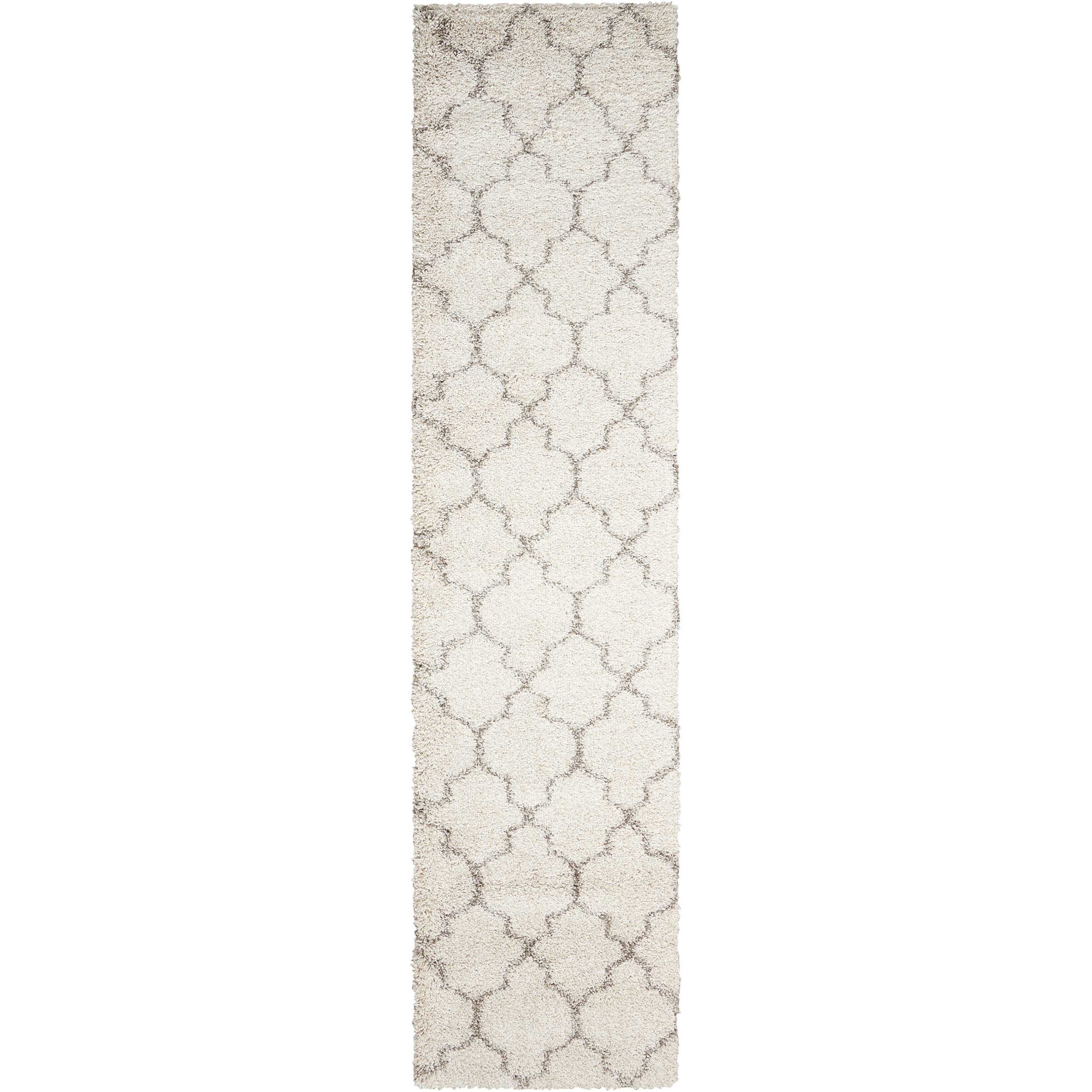 """Amore 2'2"""" x 10' Cream Runner Rug by Nourison at Home Collections Furniture"""