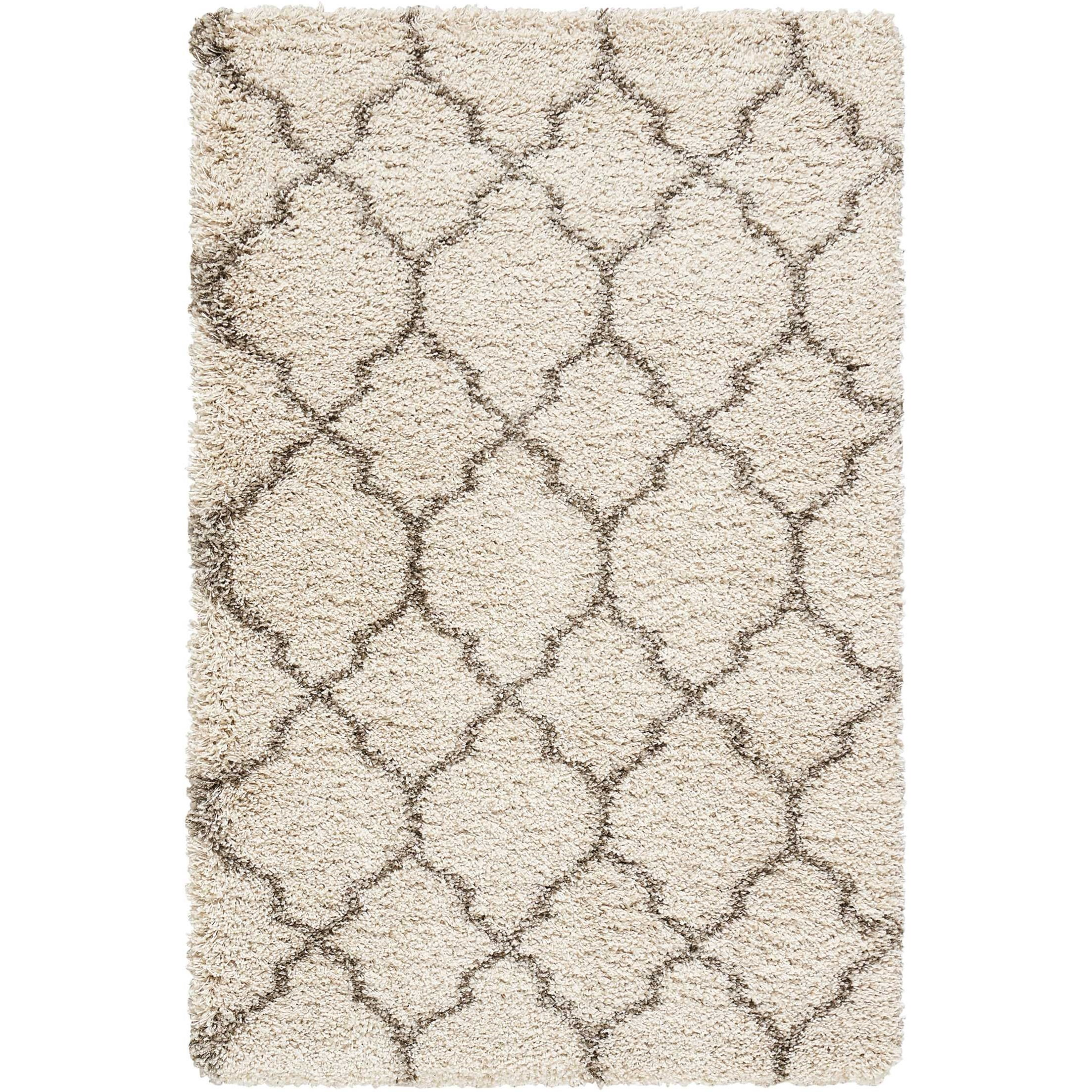 """Amore 3'2"""" x 5' Cream Rectangle Rug by Nourison at Sprintz Furniture"""