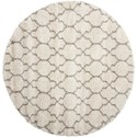 "Nourison Amore 6'7"" x 6'7"" Cream Round Rug - Item Number: AMOR2 CRM 67X67 RD"