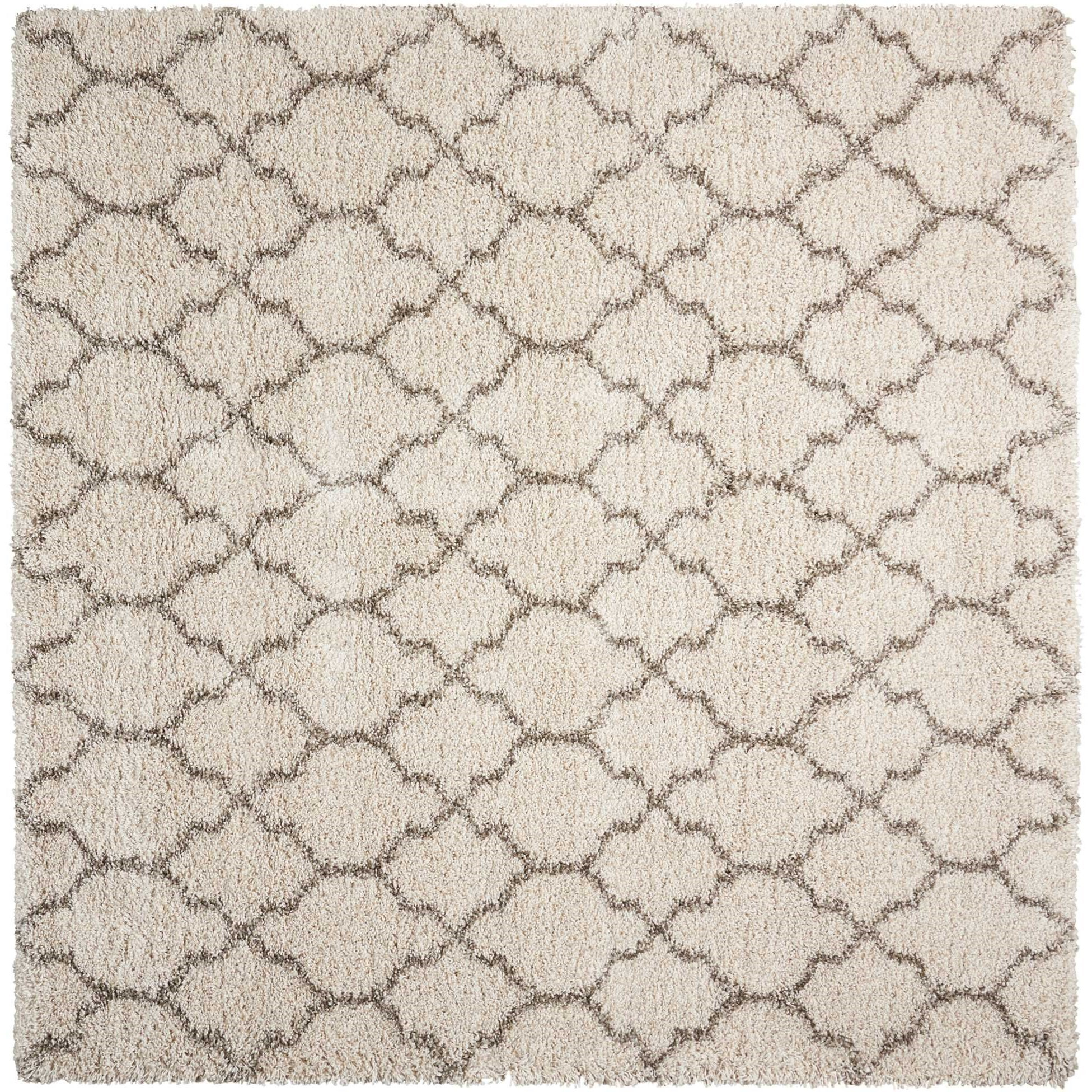 "Amore 6'7"" x 6'7"" Cream Rectangle Rug by Nourison at Home Collections Furniture"