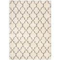 "Nourison Amore 6'7"" x 9'6"" Cream Rectangle Rug - Item Number: AMOR2 CRM 67X96"