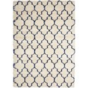 "Nourison Amore 6'7"" x 6'7"" Ivory/Blue Rectangle Rug - Item Number: AMOR2 IVB 67X67"