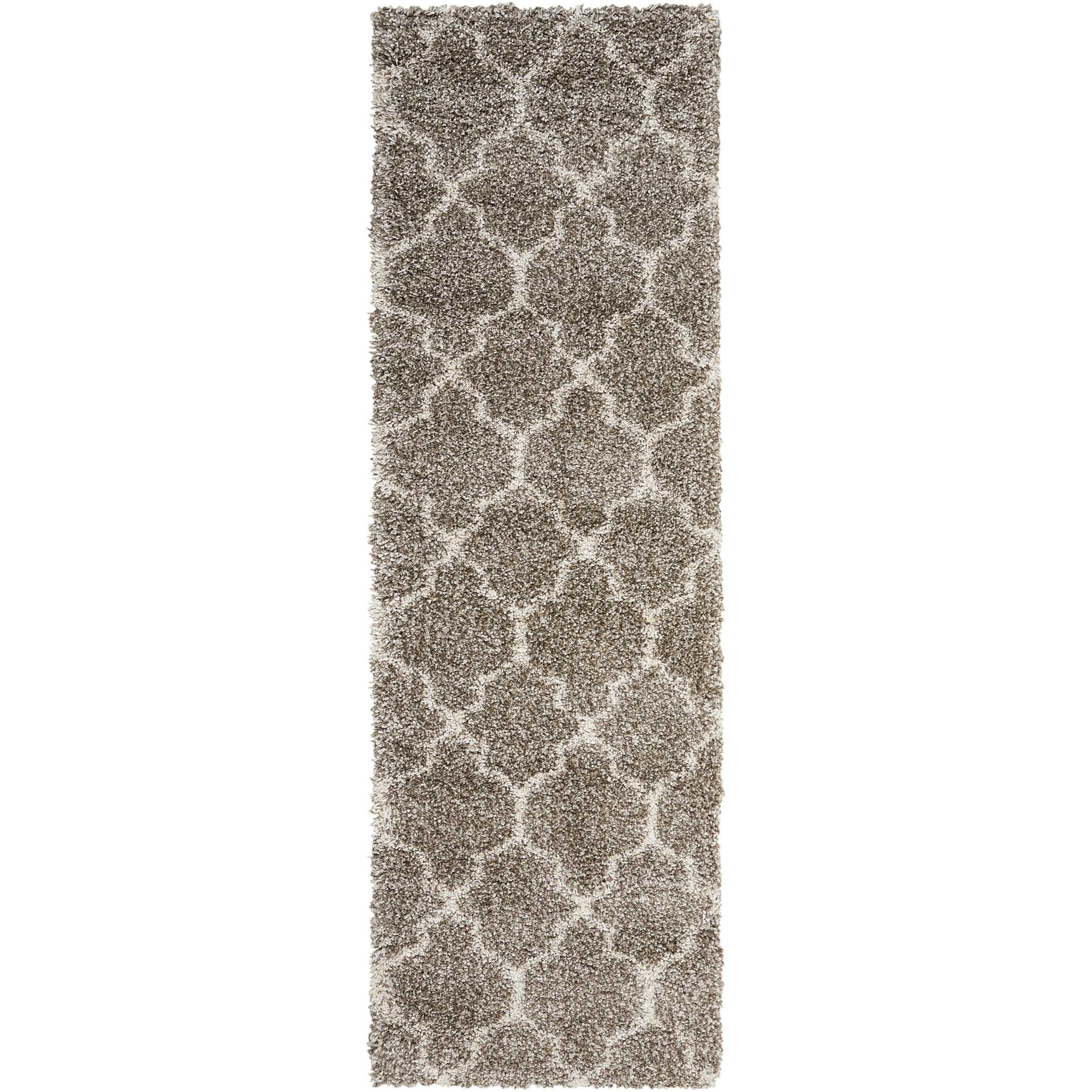 """Amore 2'2"""" x 7'6"""" Stone Runner Rug by Nourison at Sprintz Furniture"""