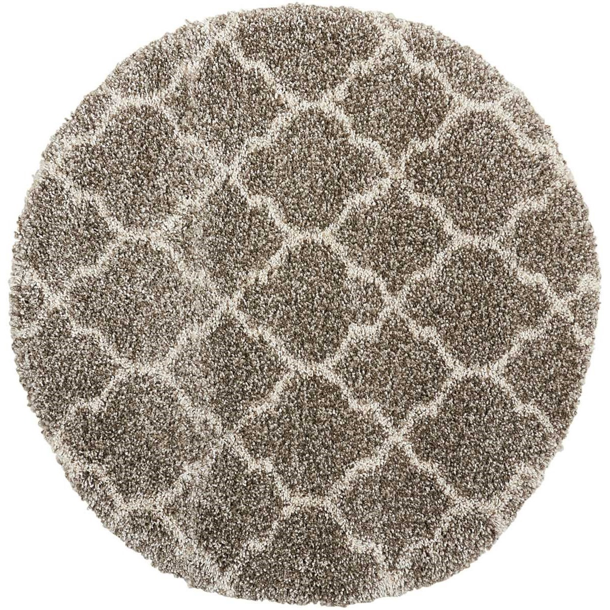 """Amore 3'11"""" x 3'11"""" Stone Round Rug by Nourison at Home Collections Furniture"""